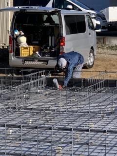 田山建設事務所新築工事・コンクリート打設