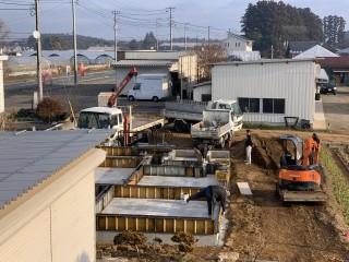 田山建設事務所新築・基礎工事完了