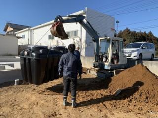 田山建設事務所新築工事・浄化槽設置