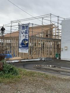 田山建設事務所新築工事・1月15日の様子