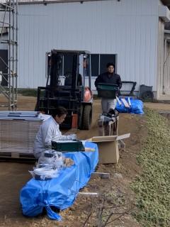 田山建設事務所新築工事・太陽光パネル設置