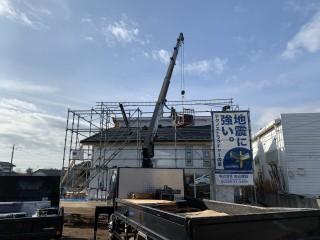 田山建設事務所新築工事・瓦工事完了