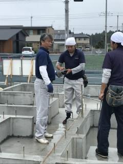 地震に強い家の土台敷き