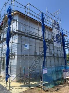 水戸市地震に強いテクノストラクチャーの家・工事中の様子
